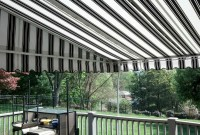 Residential stationary deck awning 6.