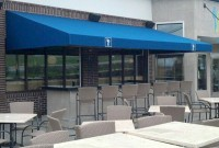 Commercial storefront shed style welded frame awning 1a.