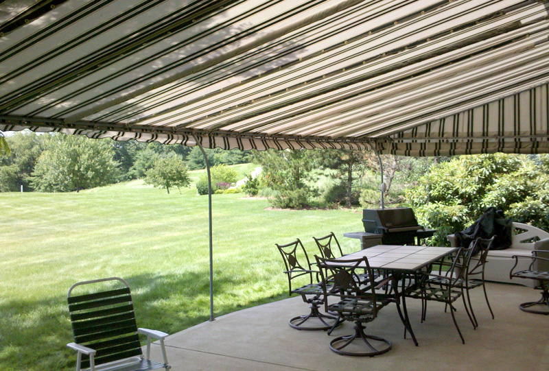 Residential stationary patio awning 2.
