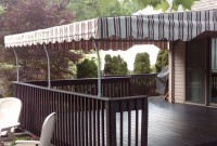 Residential stationary deck awning 8.