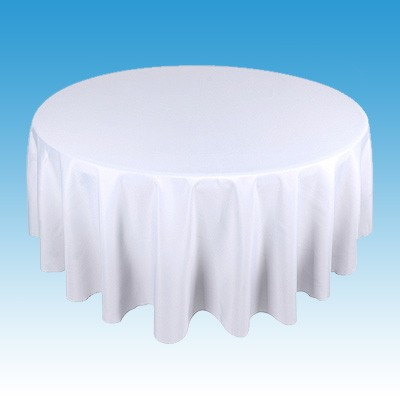 Linen for Round Table - White Standard Length