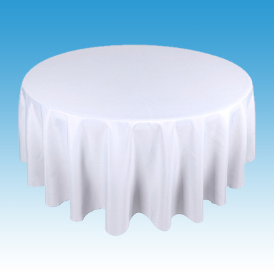 Linen for Round Table - White Standard Length