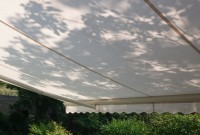Residential retractable awning - view from beneath 16.