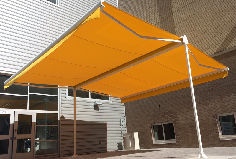 Mt. Lebanon Patio Awning - Commercial retractable terrace cover awning 5a.