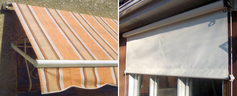 Drop Arm / Drop Curtain Retractable Window Awnings