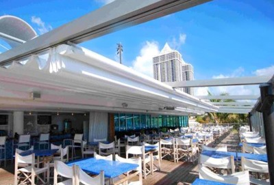 Commercial waterproof retractable roof deck awning 5.