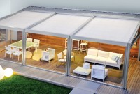 Residential waterproof retractable roof patio awning 3.waterproof retractable roof awning 3.