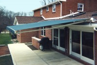 Residential roof mounted retractable patio awning 6a.
