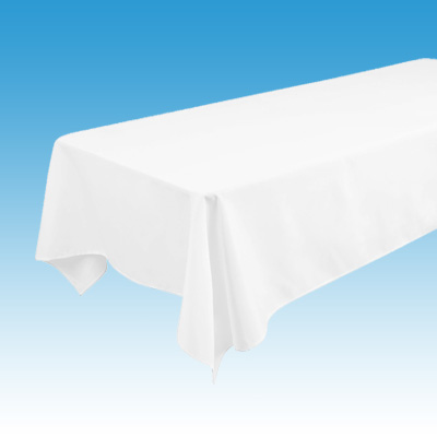 White Standard Length Linen for Banquet Table