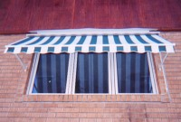Residential retractable drop arm window awning 4a.