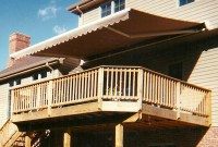 Residential monoblock retractable deck awning 3.