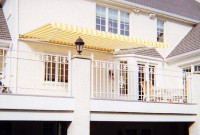 Residential adjustable pitch retractable deck awning 18.