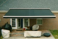 Residential roof mounted retractable patio awning 17a.