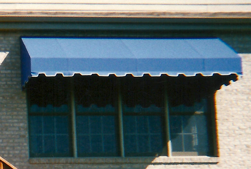 Residential welded frame window awning 09.