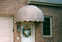 Residential welded frame dome style door awning 7.