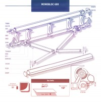 Monobloc retractable awning diagram.