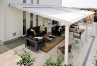 Residential waterproof retractable roof patio awning 1a.