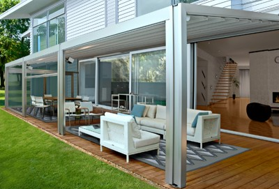 Residential waterproof retractable roof patio awning 6.