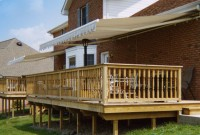 Residential monoblock retractable deck awning 20a.